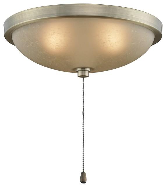 Fanimation Amber Linen Glass Low Profile Bowl Light Kit X-BAA411KL traditional-ceiling-fan-accessories
