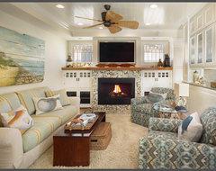 Beach Home tropical-family-room