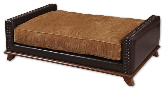 Beau Saddle-Brown Designer Pet Bed traditional-pet-beds