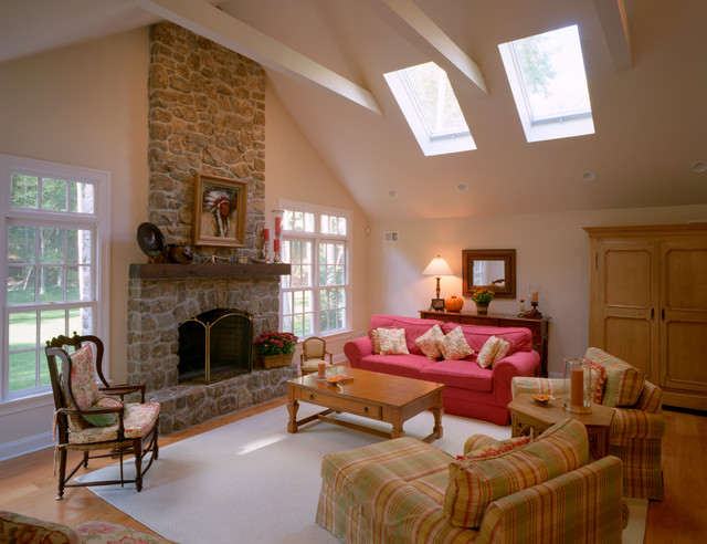 Center hall colonial whole house renovation traditional for Center hall colonial living room ideas
