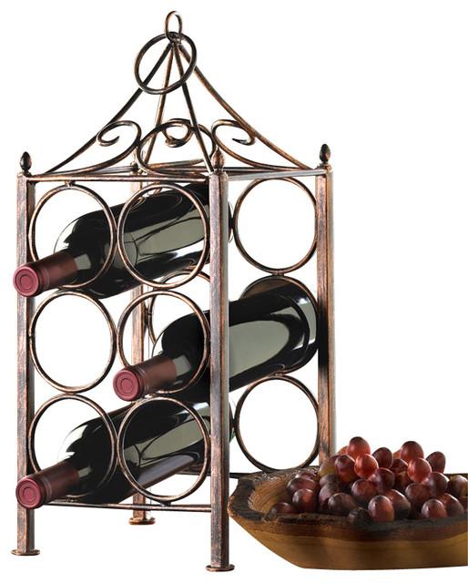 Malibu Creations Circle Corral Wine Holder contemporary-wine-racks