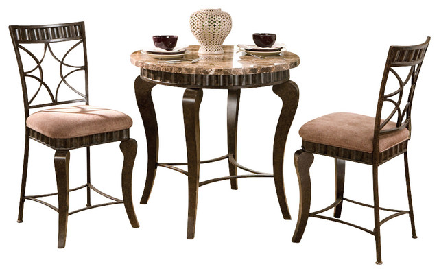 Steve Silver Hamlyn 3 Piece 36 Inch Round Marble Top  : contemporary dining sets from houzz.com size 640 x 398 jpeg 65kB