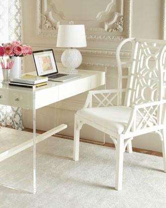 "Hotel Maison ""Monroe"" Lucite Desk modern-desks-and-hutches"