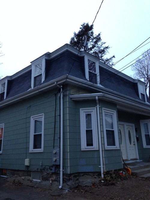 Ugly mansard victorian w asbestos siding how to de uglify - Key steps removal asbestos roofs ...
