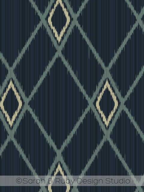 Diamond Ikat wallpaper