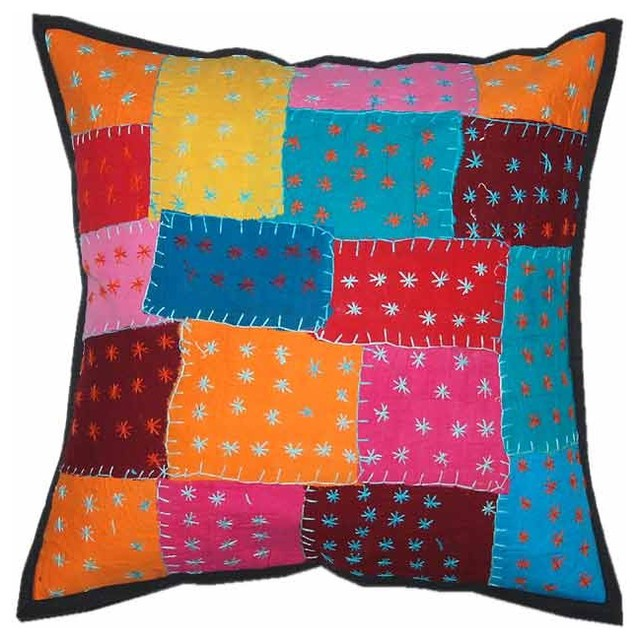 Traditional Pillows : Indian decor handmade cushion pillow covers - Traditional - Decorative Pillows