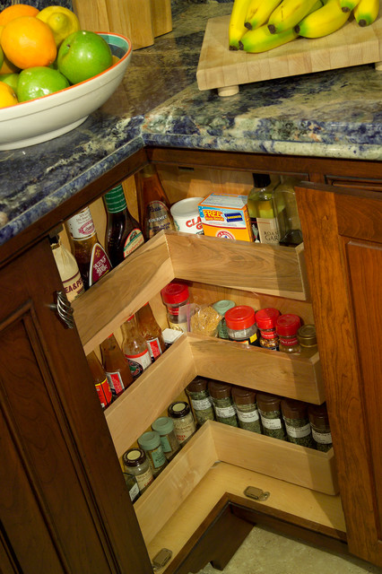 Kitchen lazy susan spice rack cabinet traditional kitchen baltimore by grandior kitchen - Spice rack for lazy susan cabinet ...