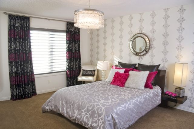 Pink ...The International color of welcome! contemporary-bedroom