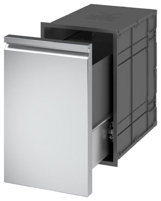 Ronda Pull-Out Trash Drawer - Contemporary - Kitchen Trash Cans - by ...