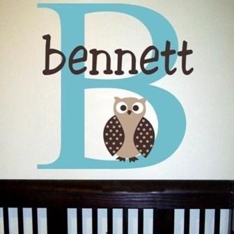 Bennet's Owl Wall Decal contemporary-nursery-decor