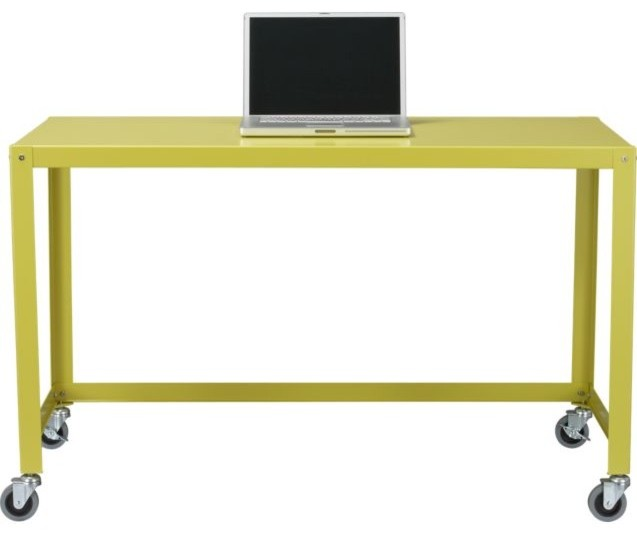 Go-Cart Chartreuse Desk contemporary desks