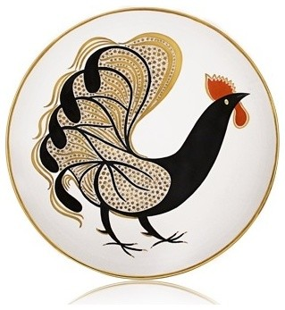 Waylande Gregory Glam Rooster Large Bowl eclectic-serving-utensils