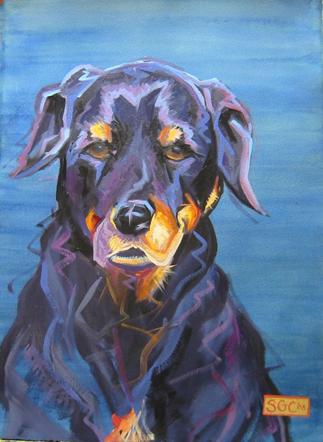 Color Dogs portraits (and Color Cats!) eclectic-artwork