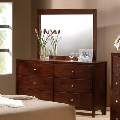 Fleming 6 Drawer Dresser - Rich Cherry modern-dressers-chests-and-bedroom-armoires