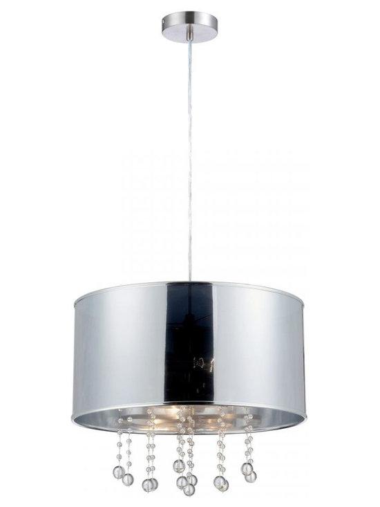 Joshua Marshal - Steel Riviera 2 Light Pendant - Finish: Polished Steel