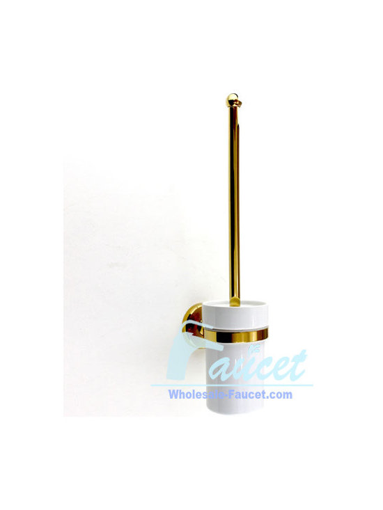 Polished Brass Bathroom Toilet Brush Holder - ●Luxury Polished Brass Bathroom Toilet Brush Holder J-106