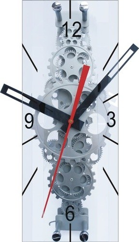 """22"""" x 8"""" Large Moving Gear Wall Clock with Glass Cover modern-clocks"""