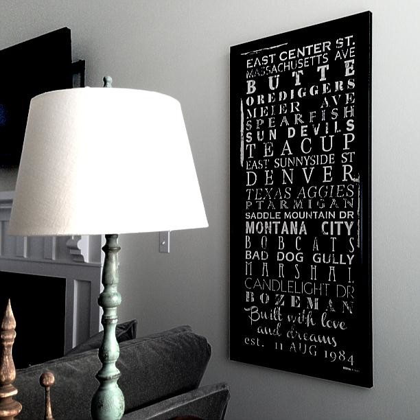 Canvas word art collection by Geezees