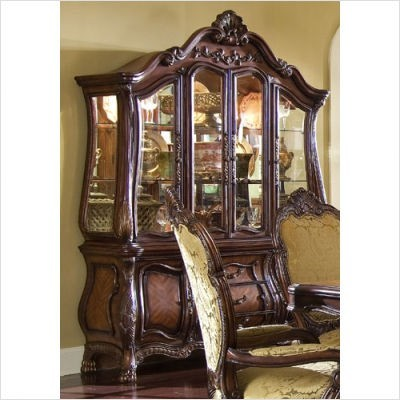 AICO Furniture - Chateau Beauvais China Cabinet in Noble Bark - 75006/75005 transitional-fabric