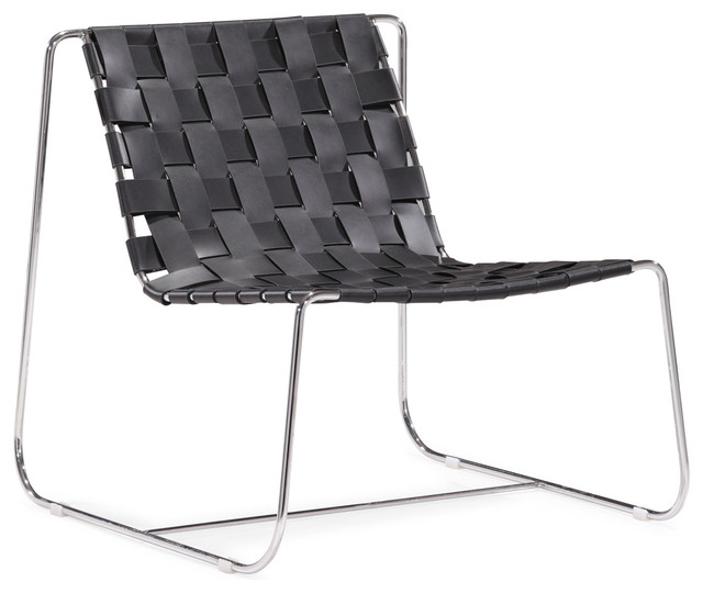 Prospect Park Lounge Chair Black modern-outdoor-chaise-lounges
