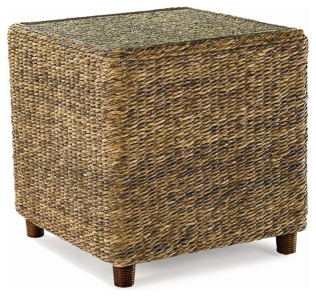Seagrass End Table Tangiers Tropical Side Tables And End Tables By Wicker Paradise