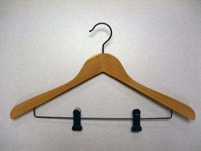 Proman Concave Suit Hanger with Clips - 12 Pieces modern-wall-hooks