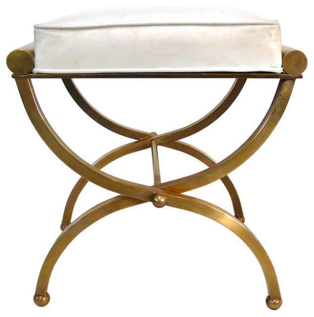 Empire Vanity Stool By Charles Hollis Jones - traditional