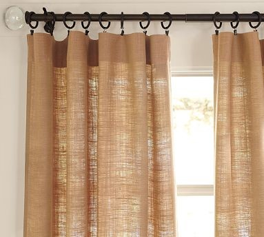 Burlap Deep Pocket Drape contemporary curtains
