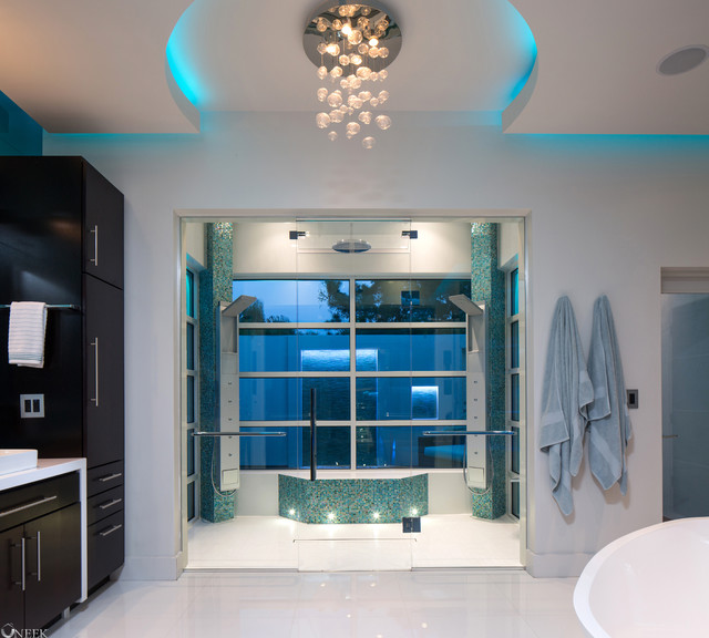 Modern Reno with Sophisticated Style contemporary-bathroom