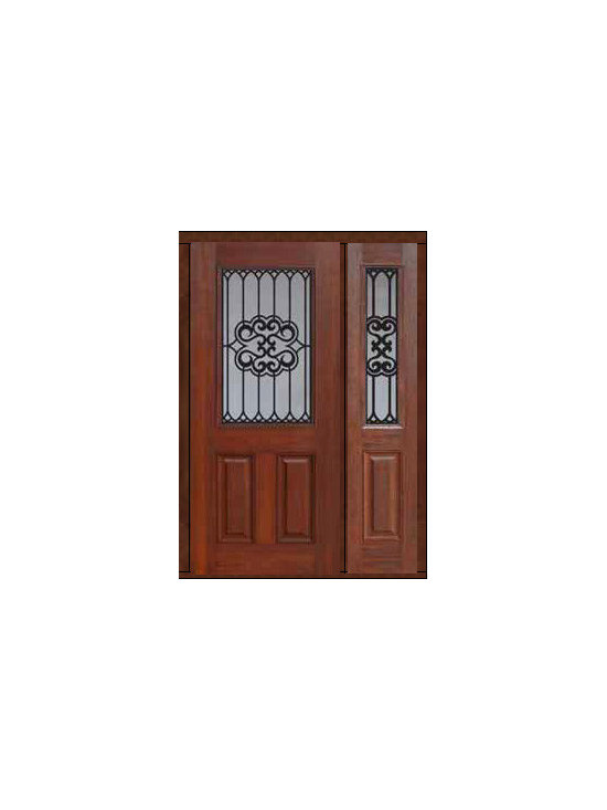 "Prehung Sidelite Door 80 Fiberglass Tivoli 2 Panel 1/2 Lite GBG Glass - SKU#    MCT012WTI_DFHTIG1-1Brand    GlassCraftDoor Type    ExteriorManufacturer Collection    1/2 Lite Entry DoorsDoor Model    TivoliDoor Material    FiberglassWoodgrain    Veneer    Price    3130Door Size Options    32"" + 14""[3'-10""]  $032"" + 12""[3'-8""]  $036"" + 14""[4'-2""]  $036"" + 12""[4'-0""]  $0Core Type    Door Style    Door Lite Style    1/2 LiteDoor Panel Style    2 PanelHome Style Matching    Door Construction    Prehanging Options    PrehungPrehung Configuration    Door with One SideliteDoor Thickness (Inches)    1.75Glass Thickness (Inches)    Glass Type    Double GlazedGlass Caming    Glass Features    Tempered glassGlass Style    Glass Texture    Glass Obscurity    Door Features    Door Approvals    Energy Star , TCEQ , Wind-load Rated , AMD , NFRC-IG , IRC , NFRC-Safety GlassDoor Finishes    Door Accessories    Weight (lbs)    418Crating Size    25"" (w)x 108"" (l)x 52"" (h)Lead Time    Slab Doors: 7 Business DaysPrehung:14 Business DaysPrefinished, PreHung:21 Business DaysWarranty    Five (5) years limited warranty for the Fiberglass FinishThree (3) years limited warranty for MasterGrain Door Panel"