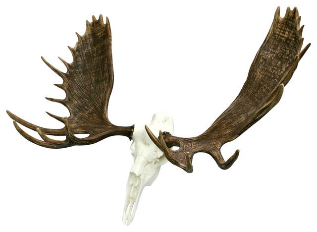 European Bull Moose Skull Mount Rustic Accessories And