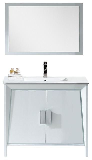 Fine Fixtures Imperial Ii Complete Vanity Collection White 36 Vanity Modern Bathroom