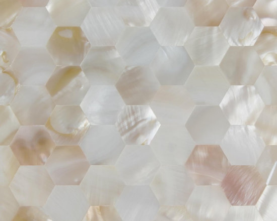 Natural mother of pearl mosaic tiles Hexagonal seamless - visit www.dintin.com and contact us,we have complete range of natural mother of pearl mosaic tiles,custom size and custom pattern welcome.worldwide shipping!