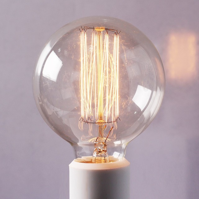 Edison tungsten globe filament replacement light bulbs modern incandescent bulbs raleigh Tungsten light bulbs