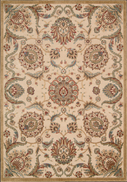 "Graphic Illusions GIL17 2'3"" x 3'9"" Beige Runner Rug contemporary-rugs"