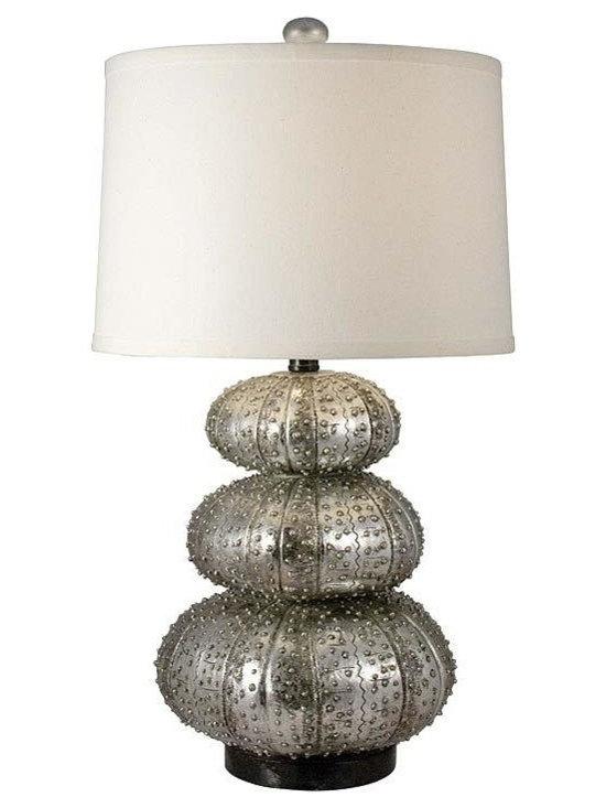 Regina Andrew - Regina Andrew Stacked Silver Sea Urchin Table Lamp - Stacked silver sea urchin table lamp.