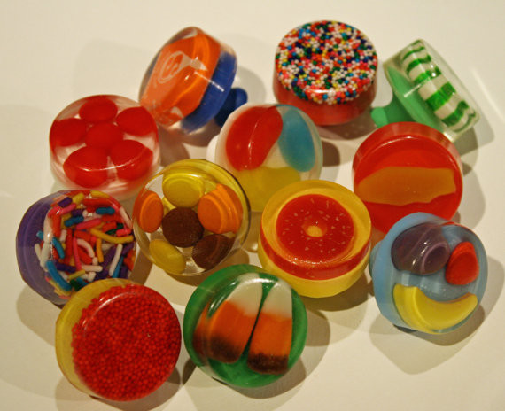 Sugar Candy Mix Knobs by Sweet Peas Knobs contemporary-knobs