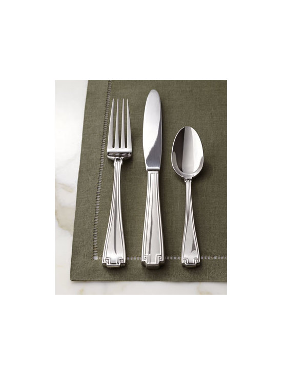 "Mikasa - Mikasa 20-Piece ""Calista"" Flatware Service - Add sophistication to any table with this brightly polished flatware set. Inspired by Greek key and chain design elements, the pattern is sure to enhance many occasions. Set includes four five-piece place settings. 18/10 stainless steel. Dishwasher..."