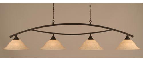 Bow Dark Granite Billiard Light with Italian Marble Glass eclectic-pendant-lighting