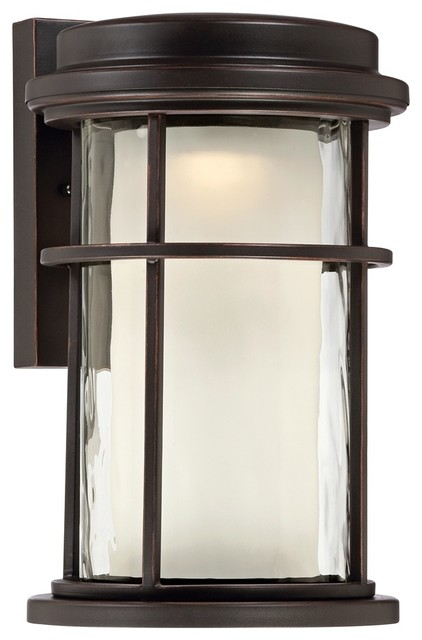 Contemporary park view bronze 10 1 2 high led outdoor for Modern craftsman lighting