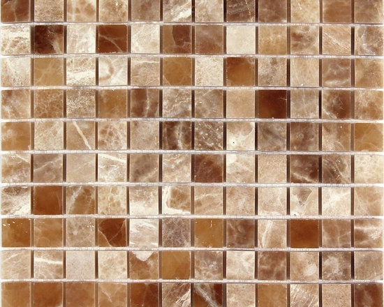 Crema Caramel Onyx Polished 1x1 Square Mosaic tile - Crema Caramel Onyx Polished 1x1 Square Mosaic tile from http://allmarbletiles.com