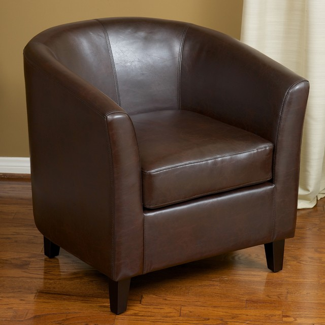 Christopher Knight Home Preston Brown Bonded Leather