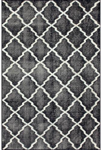 Overdye Navy Moroccan Trellis Rug modern-rugs