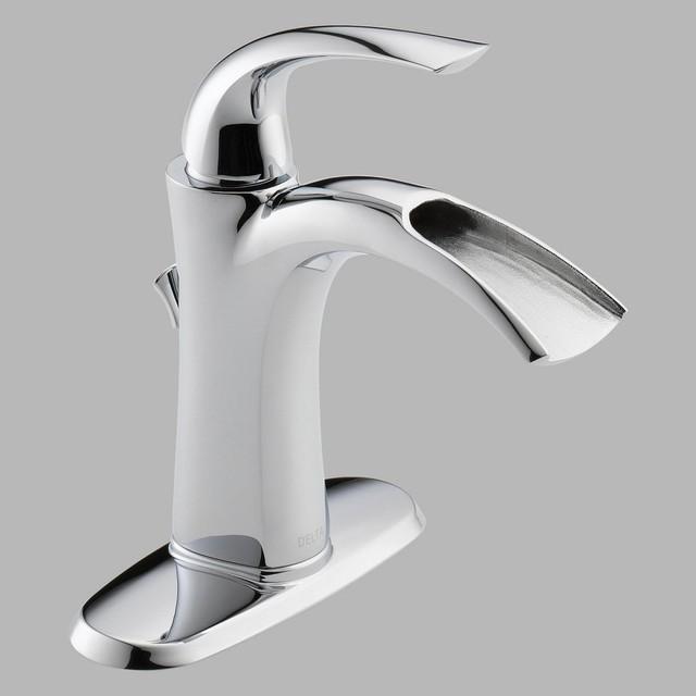 Delta 15708 Single Handle Centerset Bathroom Sink Faucet modern-bathroom-faucets