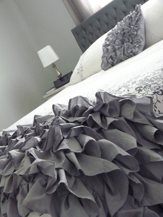 Ruffled Throw - King - Custom made in almost any colour, this ruffled throw brings soft elegance and texture to any room.