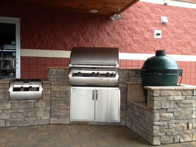 fire magic big green egg outdoor kitchen by fine 39 s gas