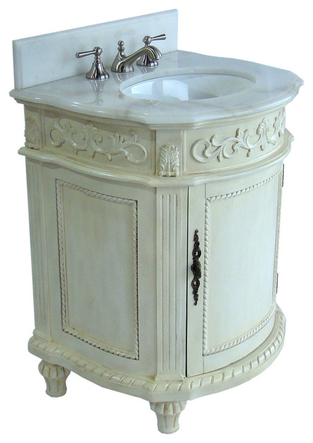 26 Hand Painted Catalina Bathroom Sink Vanity Antique White Traditional Bathroom Vanities