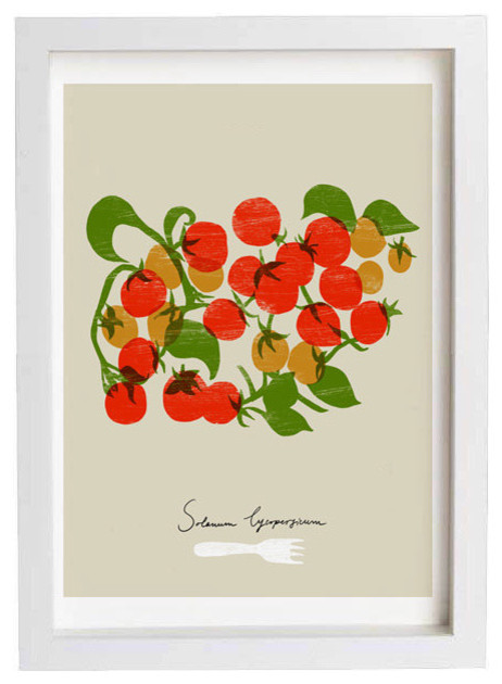 Cherry tomatoes kitchen art print by anek contemporary for Contemporary kitchen art decor