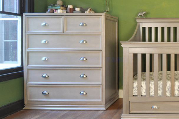 Franklin & Ben - Mason Tall Dresser, Weathered Grey contemporary-kids-dressers-and-armoires
