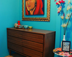 Kim Johnson-Teal dressing room eclectic